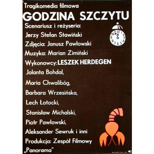Auf dem Gipfel des Ruhms Jerzy Flisak Polnische Filmplakate