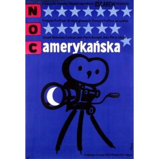 Amerikanische Nacht Jerzy Flisak Polnische Filmplakate