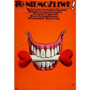 Das kann doch nicht wahr sein! Leonid Gaidai Jerzy Flisak Polnische Filmplakate