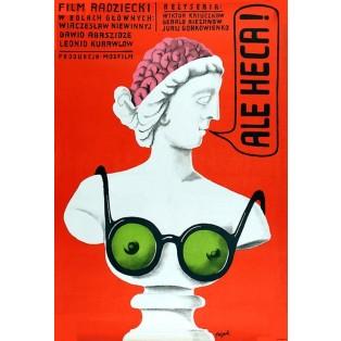 Au-u! Jerzy Flisak Polnische Filmplakate