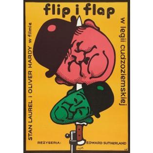 Dick und Doof in der Fremdenlegion Jerzy Flisak Polnische Filmplakate