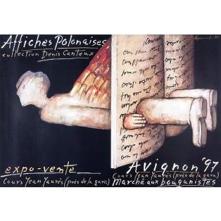 Avignon Affiches Polonaises 1997 Mieczysław Górowski Polnische Ausstellungsplakate