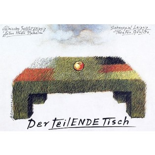 Teilende Tisch Mieczysław Górowski Polnische Theaterplakate
