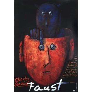 Faust – Charles Gounod Mieczysław Górowski Polnische Opernplakate