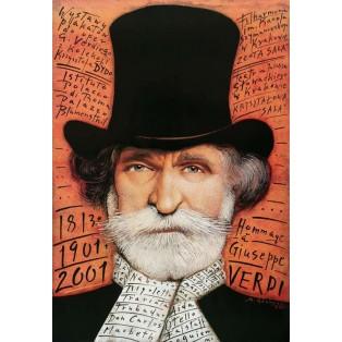 Hommage a Giuseppe Verdi Mieczysław Górowski Polnische Musikplakate