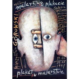 Malerei im Plakat Mieczysław Górowski Polnische Ausstellungsplakate