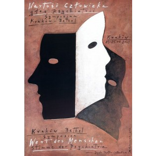 Wert des Menschen Mieczysław Górowski Polnische Plakate