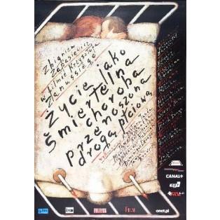Das Leben als eine tödliche Krankheit Krzysztof Zanussi Mieczysław Górowski Polnische Filmplakate