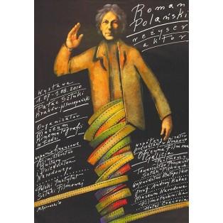 Polański – Regisseur, Schauspieler Mieczysław Górowski Polnische Filmplakate