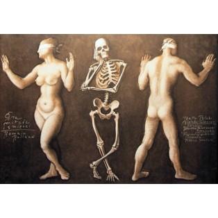 Spiel von Tod und Liebe, Romain Rolland Mieczysław Górowski Polnische Theaterplakate