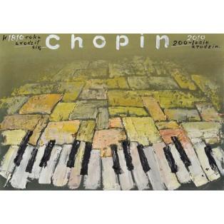 Frederic Chopin 1810 – 2010 Mieczysław Górowski Polnische Musikplakate