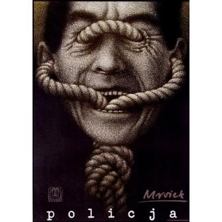 Polizei Sławomir Mrożek Mieczysław Górowski Polnische Theaterplakate