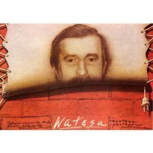 Lech Wałęsa Portraitsausstellung Mieczysław Górowski Polnische Ausstellungsplakate