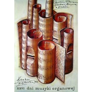Tage der Orgelmusik XXVI.  Mieczysław Górowski Polnische Musikplakate
