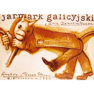 Galizianer Jahrmarkt mit der Demokratischen Union Mieczysław Górowski Polnische Plakate