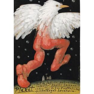 Plakat Bibliotheque Bernhein Mieczysław Górowski Polnische Ausstellungsplakate