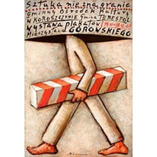 Kunst kennt keine Grenzen in Koroszczyn Mieczysław Górowski Polnische Ausstellungsplakate