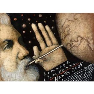 Hommage a Jules Verne Mieczysław Górowski Polnische Ausstellungsplakate