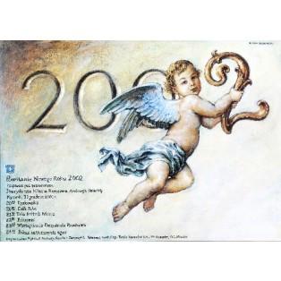 Silvester 2002 Wiesław Grzegorczyk Polnische Plakate