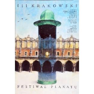 Poster Festival in Krakau Wiesław Grzegorczyk Polnische Ausstellungsplakate