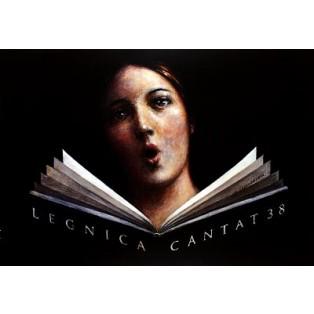 Legnica Cantat 38. Wiesław Grzegorczyk Polnische Musikplakate
