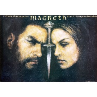 Macbeth Wiesław Grzegorczyk Polnische Theaterplakate