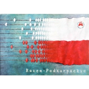 Podkarpackie soll zusammen halten! Wiesław Grzegorczyk Polnische Plakate