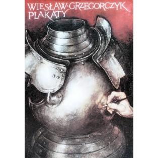 Wiesław Grzegorczyk Plakate Wiesław Grzegorczyk Polnische Ausstellungsplakate