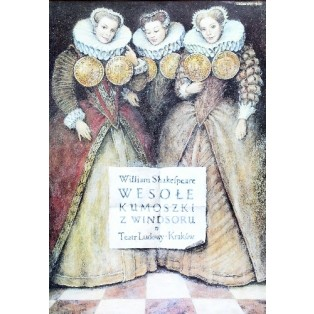 Lustigen Weiber von Windsor Wiesław Grzegorczyk Polnische Theaterplakate