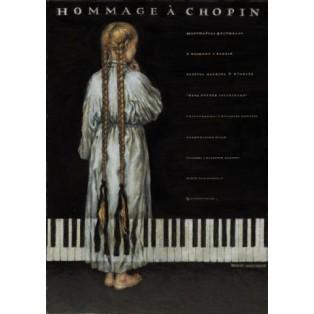 Hommage a Chopin Wiesław Grzegorczyk Polnische Musikplakate