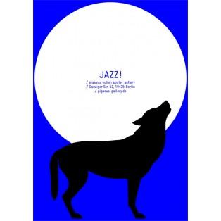 Jazz! Polnische Jazz Plakate Małgorzata Gurowska Polnische Musikplakate