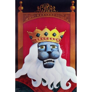 Zirkus Löwe König Hubert Hilscher Polnische Zirkusplakate