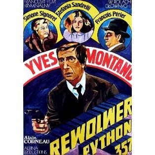 Police Python 357 Alain Corneau Maria Ihnatowicz Polnische Filmplakate