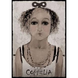 Coppelia Das Mädchen mit den Glasaugen Ryszard Kaja Polnische Opernplakate