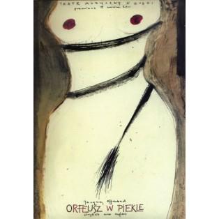 Orpheus In Der Unterwelt Ryszard Kaja Polnische Theaterplakate