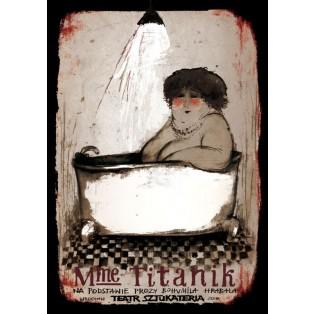 Mme Titanik Ryszard Kaja Polnische Theaterplakate