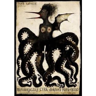Mythologische Zirkus von Doktor Papa-Geno Ryszard Kaja Polnische Theaterplakate