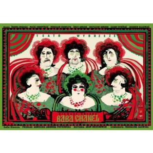 Baba Chanel Ryszard Kaja Polnische Theaterplakate
