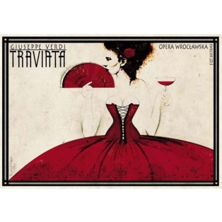 La Traviata  Giuseppe Verdi Ryszard Kaja Polnische Opernplakate