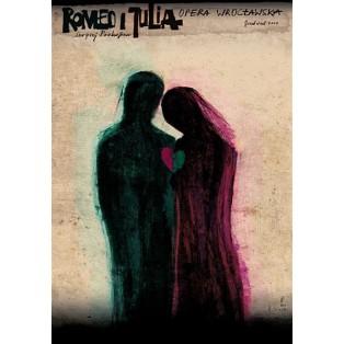 Romeo und Julia Prokofiew Wrocław Ryszard Kaja Polnische Opernplakate