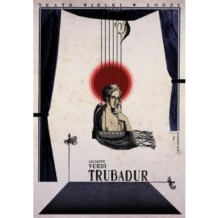 Trubadur, Il Trovatore Ryszard Kaja Polnische Opernplakate