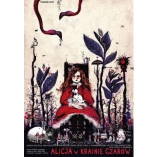 Alice in Wunderland Ryszard Kaja Polnische Theaterplakate