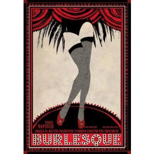 Burlesque Ryszard Kaja Polnische Theaterplakate