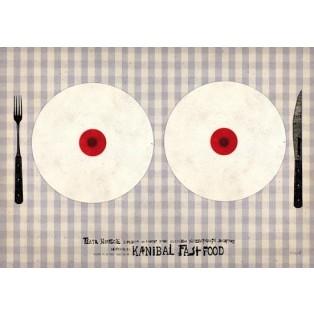 Kannibal fast-food Ryszard Kaja Polnische Theaterplakate