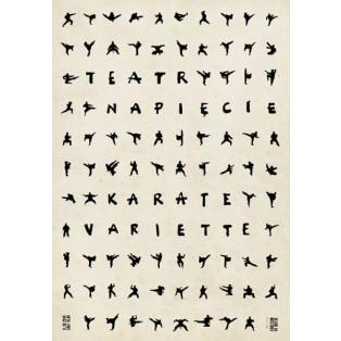 Karate variete Ryszard Kaja Polnische Theaterplakate