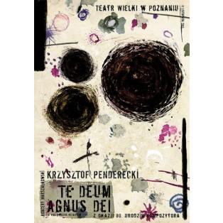 Krzysztof Penderecki Te Deum, Agnus Dei Ryszard Kaja Polnische Musikplakate