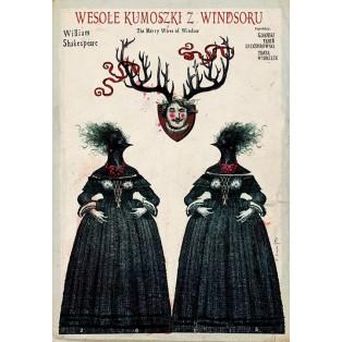 Lustigen Weiber von Windsor Ryszard Kaja Polnische Theaterplakate