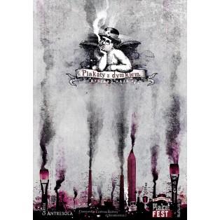 Plakate mit dem Rauchwölkchen Chorzów Ryszard Kaja Polnische Ausstellungsplakate