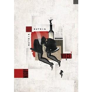 Nutria, Nutria. Nie wieder. Werbung für die Band Nutria Ryszard Kaja Polnische Musikplakate