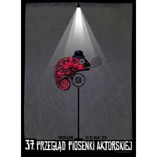 Festival des Schauspielliedes in Wrocław 37.  Ryszard Kaja Polnische Musikplakate